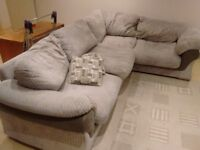 Grey cordory corner sofa