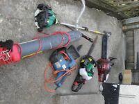 Garden Strimmer, Leaf blower, Petrol & Electric Chainsaw, Petrol Hedge Trimmer
