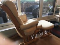 Dutalier glider nursing chair and foot-stool