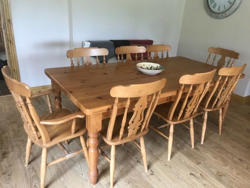 Awe Inspiring Large Farmhouse Table And Chairs In Swansea Gumtree Machost Co Dining Chair Design Ideas Machostcouk