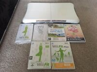 Wii Fit board + extra games