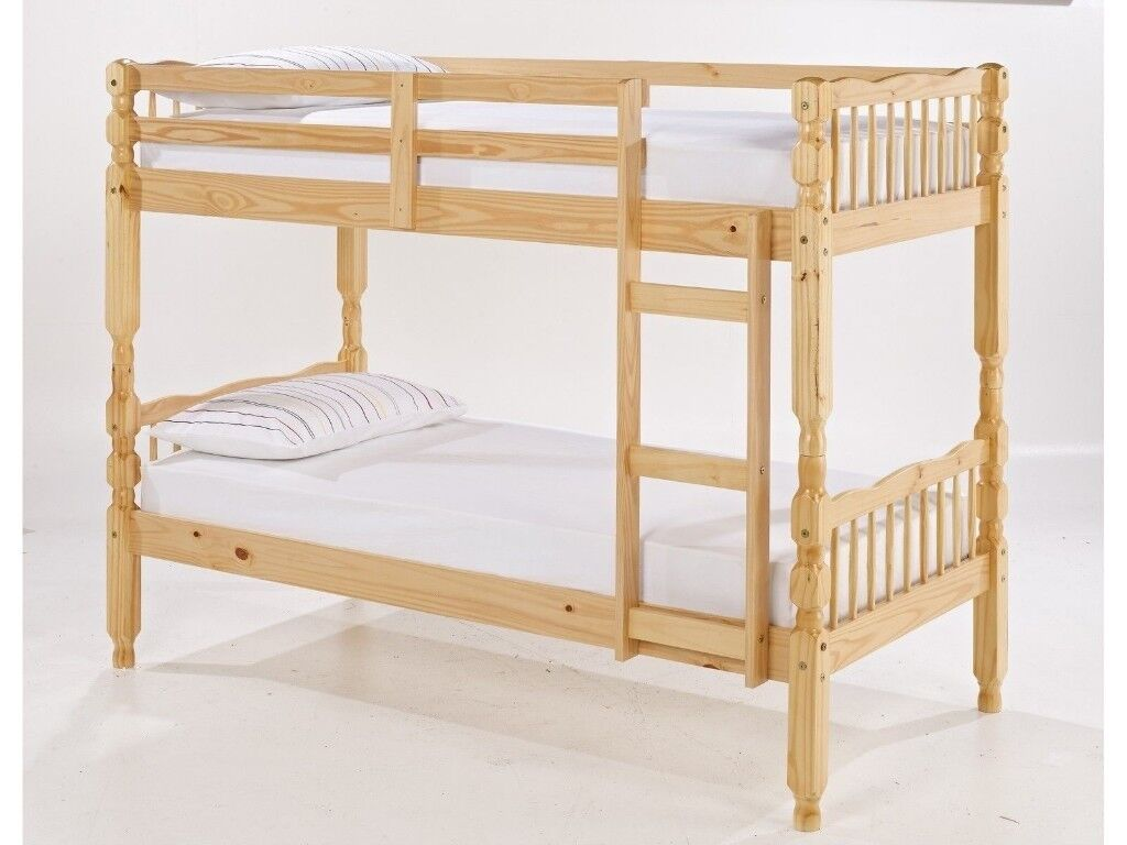 Brand New Pine Bunk Bed Quality Strong White Or Natural 165 Free