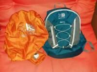 Karrimor Sierra 10L teal rucksack + rain cover