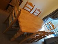 Solid Oak Dining Table and 6 Chair's
