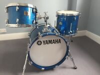 Yamaha drums for sale with Protection Racket cases. Drums in excellent condition.