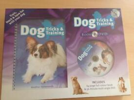 Dog training and tricks book and dvd