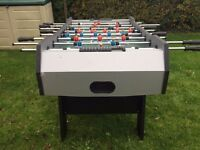DELUXE FOOTBALL TABLE FOLDS UP FOR EASY STORAGE