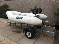 Ocean Pacific Inflatable Dingy & Trailer