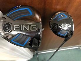 Ping G LS TECH 10.5 Driver & Ping G 14.5 3 Wood