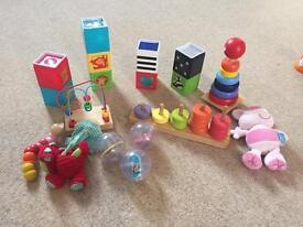 Selection of baby/toddler toys
