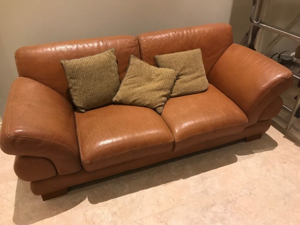 Two leather sofas. Three seater and two seater. Both in a very good condition
