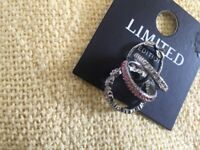 Brand new and tagged 4 dress rings m/l M&S