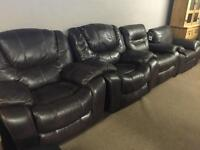 Leather armchairs - new and used - recliners and fixed FROM £90