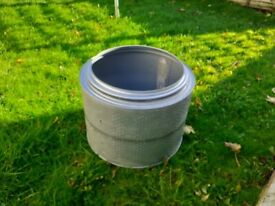 Tumble dryer drum ideal for use as a garden planter