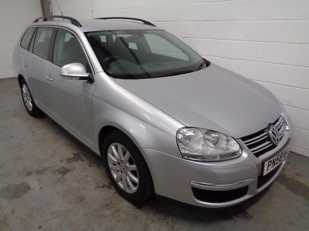 VOLKSWAGEN GOLF DIESEL ESTATE , 2008/58 REG , LOW MILES + HISTORY , YEARS MOT , FINANCE , WARRANTY