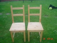 TWO PINE KITCHEN CHAIRS