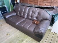 20£-including delivery, 3 seater brown leather sofa
