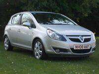 VAUXHALL CORSA 1.2 DESIGN 2008 PETROL LOW MILEAGE GOOD CONDITION WITH NEW 12 MONTH M.O.T