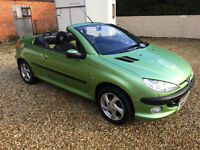 PEUGEOT 206CC AUTOMATIC STUNNING COLOUR COMBINATION 17 SERVICE STAMPS SPECTACULAR !!!
