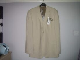 MENS CREAM LINEN JACKET SIZE 42