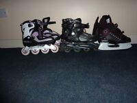 Roller Blades & Ice Hockey Skating shoes