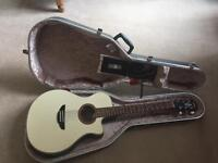 Yamaha APX 6 Electro Acoustic Guitar with Hiscox Flitecase