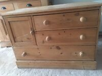 Old pine chest of drawers for sale