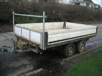 Twin axle drop side trailer