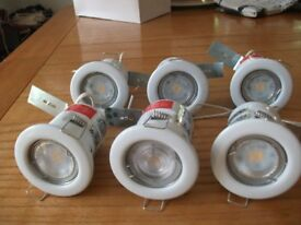 6 FIRE RATED CEILING LIGHTS 50W