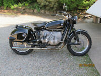 '59 BMW R60/2 WITH '77 R80/7 AIRHEAD ENGINE - CLASSIC BOBBER CUSTOM EARLS FORKS