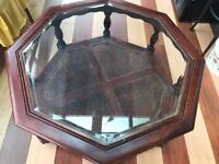 Round glass coffee table Antique