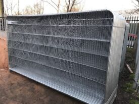 Roundtop heras fencing panels, security fencing