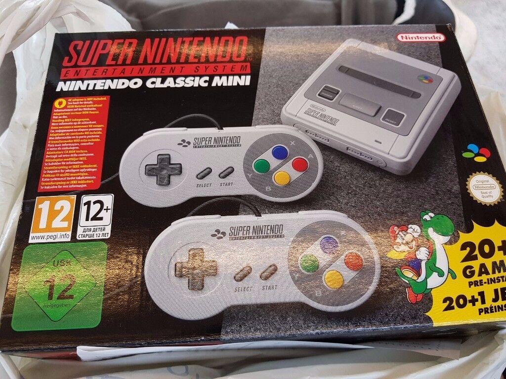 Super Nintendo SNES Mini Classic over 100 games
