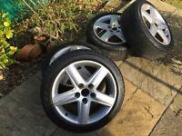 """VAG 17"""" Wheels & Tyres Audi VW Seat Scoda"""