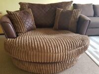 Large Twister Chair - Brown - Good Condition