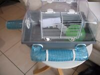 Dwarf hamster / mouse cage and accessories