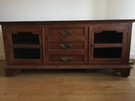 Wooden sideboard, two doors and three drawers
