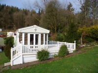Beautiful Pemberton Mystique static caravan for sale at Moffat Manor Holiday park, Beattock, D&G