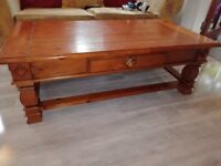 Mahogany coffee table with drawer £25
