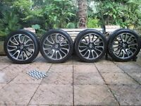 """20"""" alloys and tyres x 4 - immaculate condition"""