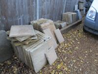 19 Sq.metres of good quality used paving slabs