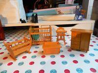 Dolls house furniture. nursery.