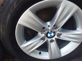 BMW ALLOYS 225/55 R16 virtually brand new, bargain