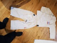 Taekwondo suit size 120 and white belts