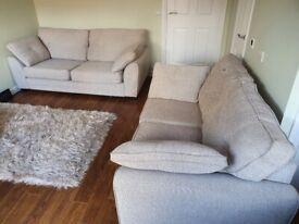 Sand coloured sofa's