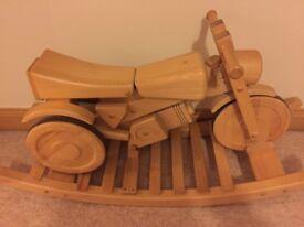 Solid Wooden Rocking/ride on motor bike