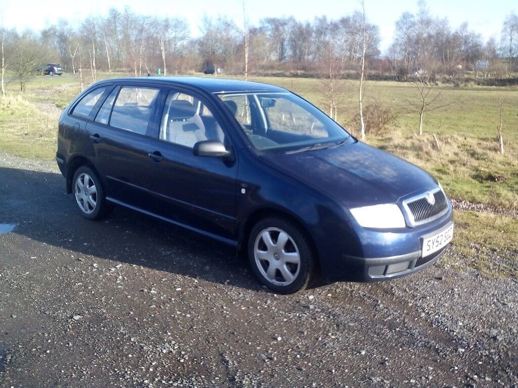 skoda fabia classic sdi estate 1 9 diesel 2002 5 door 94000 miles 10 months mot dark blue grey. Black Bedroom Furniture Sets. Home Design Ideas