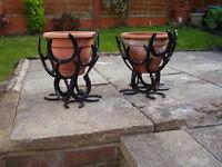 Horse Shoe Plant Pot Holders