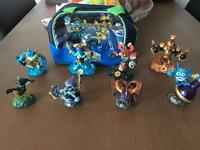 Sky landers swap force figures and carry case