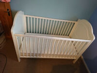 Mothercare 'Treasured Cot Bed', adjustable height.